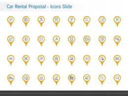 Car Rental Proposal Icons Slide Ppt Powerpoint Presentation Diagrams