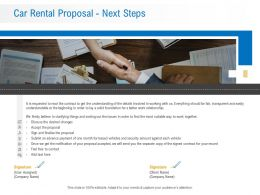 Car Rental Proposal Next Steps Ppt Powerpoint Presentation Professional Graphic Images