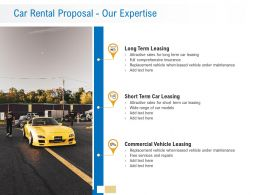 Car Rental Proposal Our Expertise Ppt Powerpoint Presentation Show Inspiration