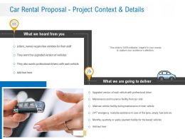 Car Rental Proposal Project Context And Details Ppt Powerpoint Presentation File Designs