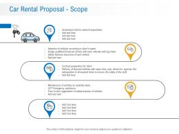 Car Rental Proposal Scope Ppt Powerpoint Presentation Introduction