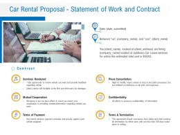 Car Rental Proposal Statement Of Work And Contract Ppt Powerpoint Presentation Example