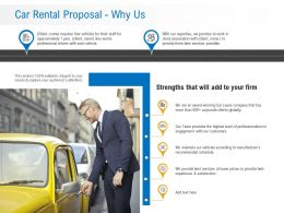 Car Rental Proposal Why Us Ppt Powerpoint Presentation Pictures Slide Download