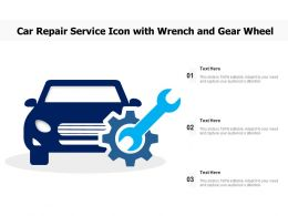 Car Repair Service Icon With Wrench And Gear Wheel