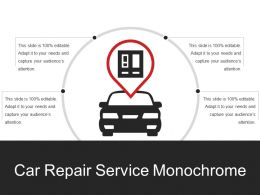 Car Repair Service Monochrome