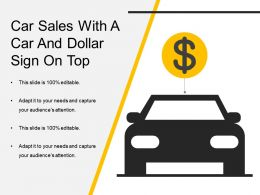 Car Sales With A Car And Dollar Sign On Top