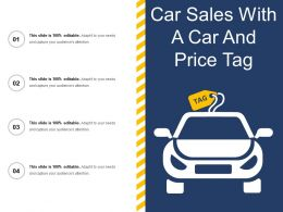 Car Sales With A Car And Price Tag