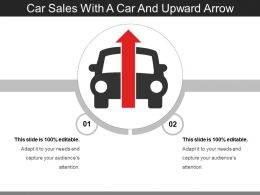 Car Sales With A Car And Upward Arrow