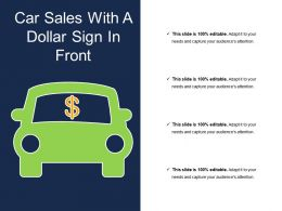 Car Sales With A Dollar Sign In Front