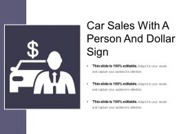 Car Sales With A Person And Dollar Sign