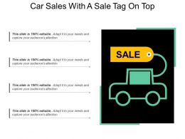 Car Sales With A Sale Tag On Top