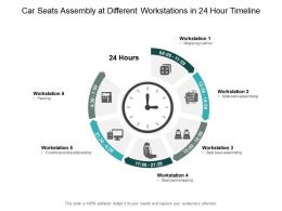 Car Seats Assembly At Different Workstations In 24 Hour Timeline