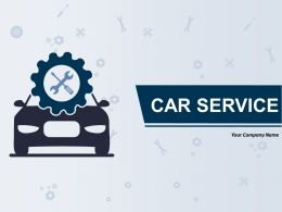 Car Service Sign Icon On Blue Glossy Square Web Button Gear Box