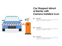 Car Stopped Infront Of Barrier With Camera Installed Icon