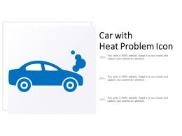 Car With Heat Problem Icon