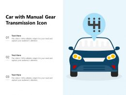 Car With Manual Gear Transmission Icon