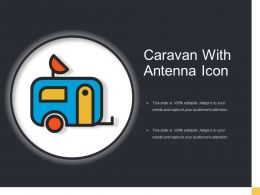 Caravan With Antenna Icon