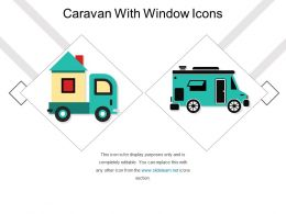 Caravan With Window Icons