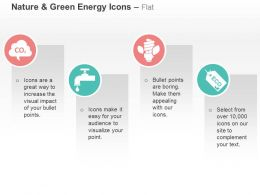 Carbon Dioxide Water Conservation Cfl Eco Friendly Ppt Icons Graphics