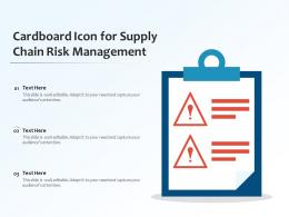 Cardboard Icon For Supply Chain Risk Management