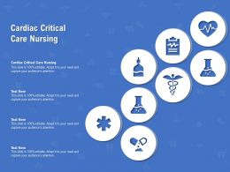 Cardiac Critical Care Nursing Ppt Powerpoint Presentation Model Graphics Pictures
