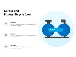 Cardio And Fitness Bicycle Icon