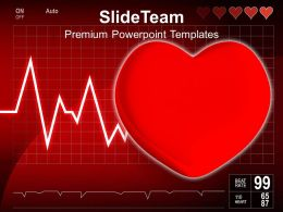 Cardiogram With Heart Medical Powerpoint Templates Ppt Themes And Graphics 0213