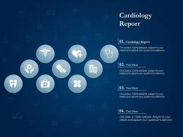Cardiology Report Ppt Powerpoint Presentation Show Slide Portrait