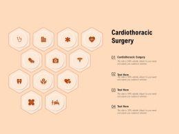 Cardiothoracic Surgery Ppt Powerpoint Presentation Ideas Themes