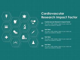 Cardiovascular Research Impact Factor Ppt Powerpoint Presentation Pictures Tips