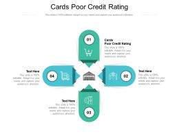 Cards Poor Credit Rating Ppt Powerpoint Presentation Pictures Slide Cpb