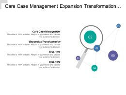 Care Case Management Expansion Transformation Financial Resource Stewardship