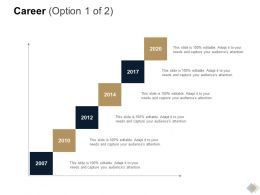 Career 2007 To 2020 Ppt Powerpoint Presentation Styles File Formats