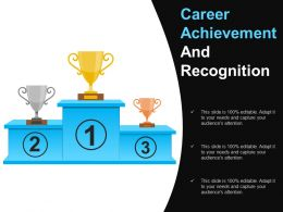 Career Achievement And Recognition Powerpoint Guide