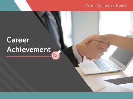 Career Achievement Arrow Representing Businessman Through Roadmap