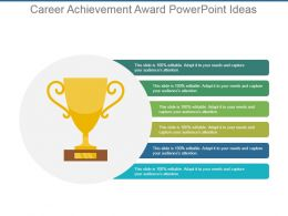 Career Achievement Award Powerpoint Ideas