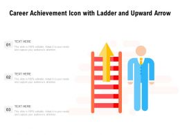 Career Achievement Icon With Ladder And Upward Arrow
