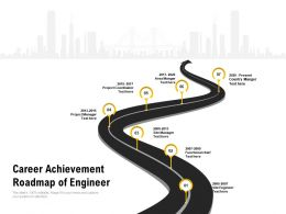 Career Achievement Roadmap Of Engineer