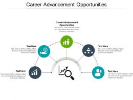 Career Advancement Opportunities Ppt Powerpoint Presentation Icon Information Cpb