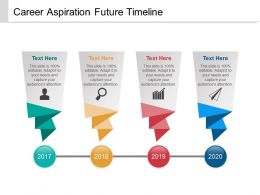 Career Aspiration Future Timeline Powerpoint Images