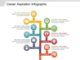 Career Aspiration Infographic Powerpoint Layout