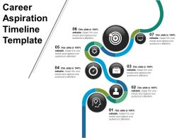Career Aspiration Timeline Template Powerpoint Shapes