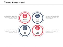 Career Assessment Ppt Powerpoint Presentation Professional Summary Cpb