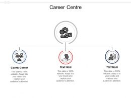 Career Centre Ppt Powerpoint Presentation Diagram Graph Charts Cpb