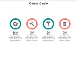 Career Cluster Ppt Powerpoint Presentation Styles Pictures Cpb