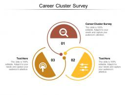 Career Cluster Survey Ppt Powerpoint Presentation Infographic Template Introduction Cpb