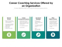 Career Coaching Services Offered By An Organization