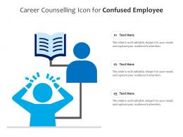 Career Counselling Icon For Confused Employee