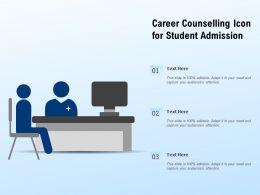 Career Counselling Icon For Student Admission