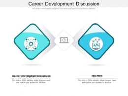 Career Development Discussion Ppt Powerpoint Presentation Slides Demonstration Cpb